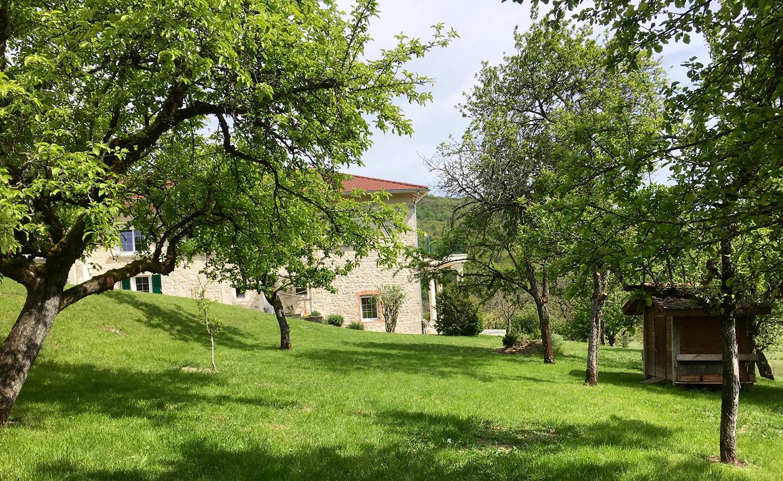 verger Les gîtes de la Tournerie Haut Bugey Oyonnax Nantua Izernore Jura Ain France
